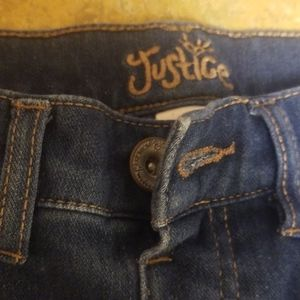 Justice little girl 10R jean shorts